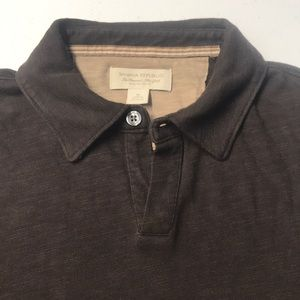 Banana Republic Shirts - BANANA REPUBLIC Mens MED Brown Long Sleeve Shirt